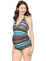 A Pea in the Pod Crochet Detail Maternity Tankini Swimsuit