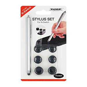 Mcbazel Dobe Stylus Pen for Nintendo Switch with 3 Sets of Thumb Caps for Joy-con
