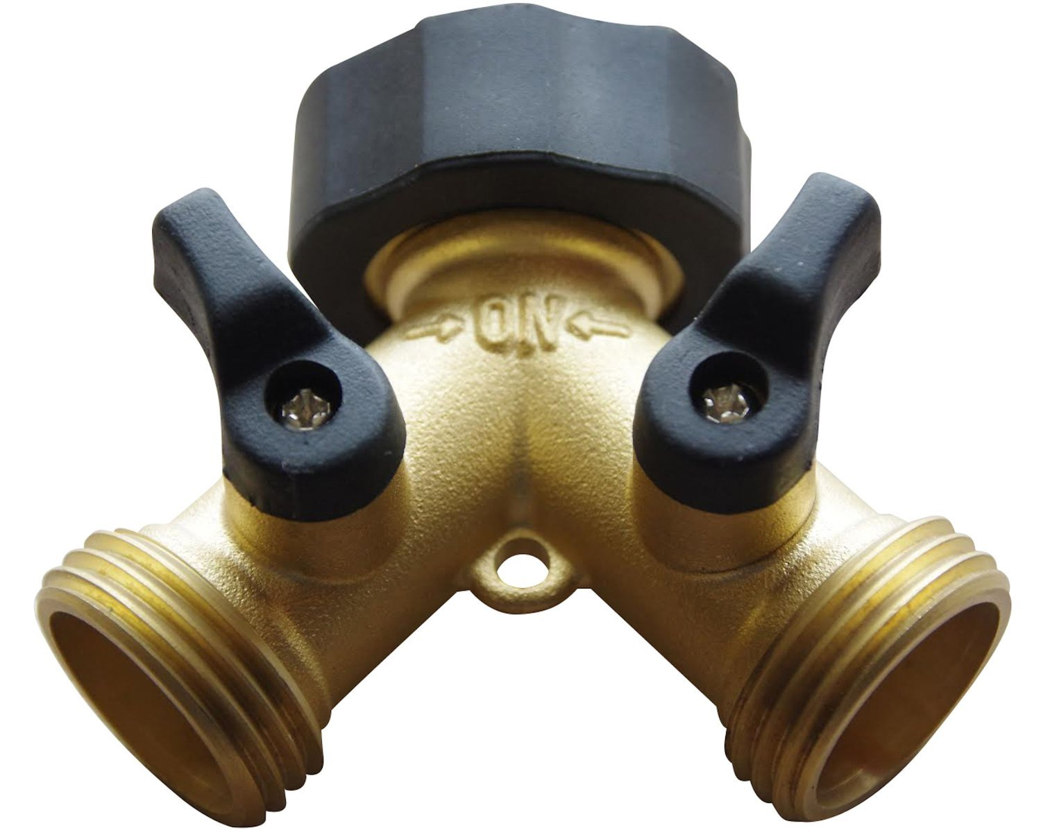 Above Edge 2 Way-Hose Splitter, Hose Connector Made from Solid Piece of Brass