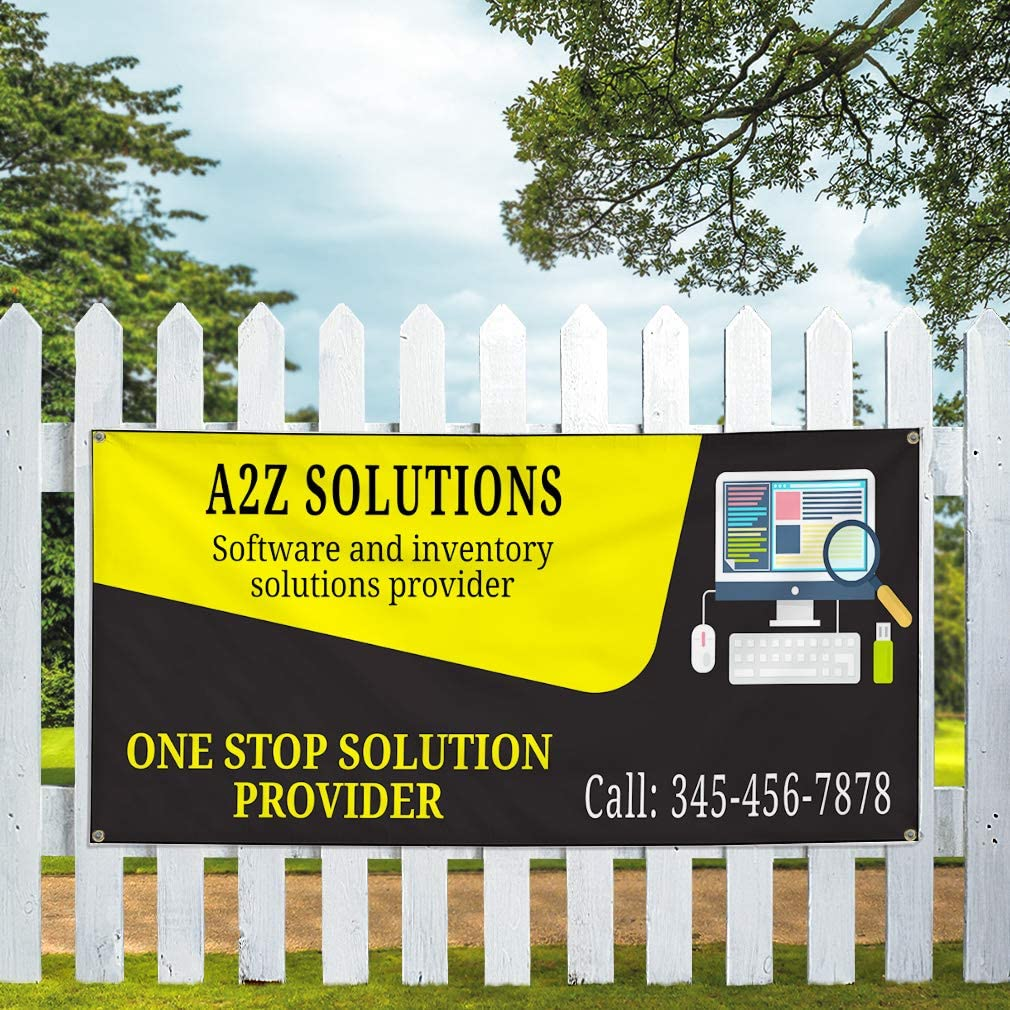 Custom Vinyl Banner Sign Multiple Sizes Window Washing Blue Business Personalized Marketing Advertising Blue 10 Grommets 60inx144in One Banner