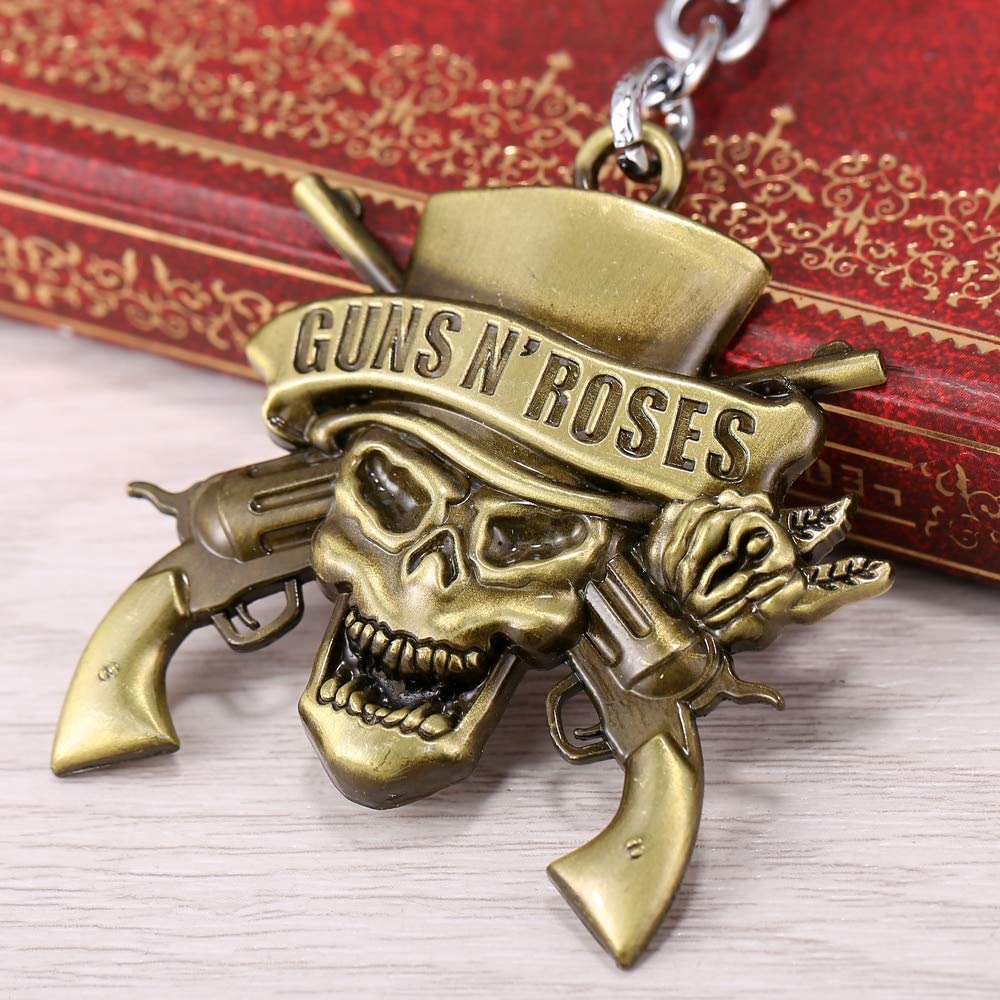 TUDUDU Banda De Música GNR Guns N Roses Llavero Puede Drop ...