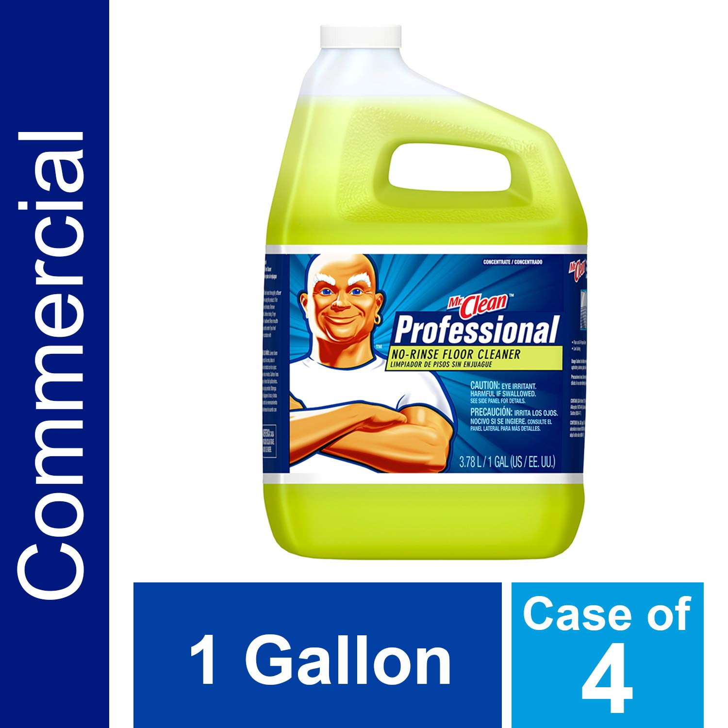 Floor Cleaner from Mr. Clean Professional, Bulk No-Rinse Ready to Use Cleaner Refill for Commercial Use, 1 Gal. (Case of 4)