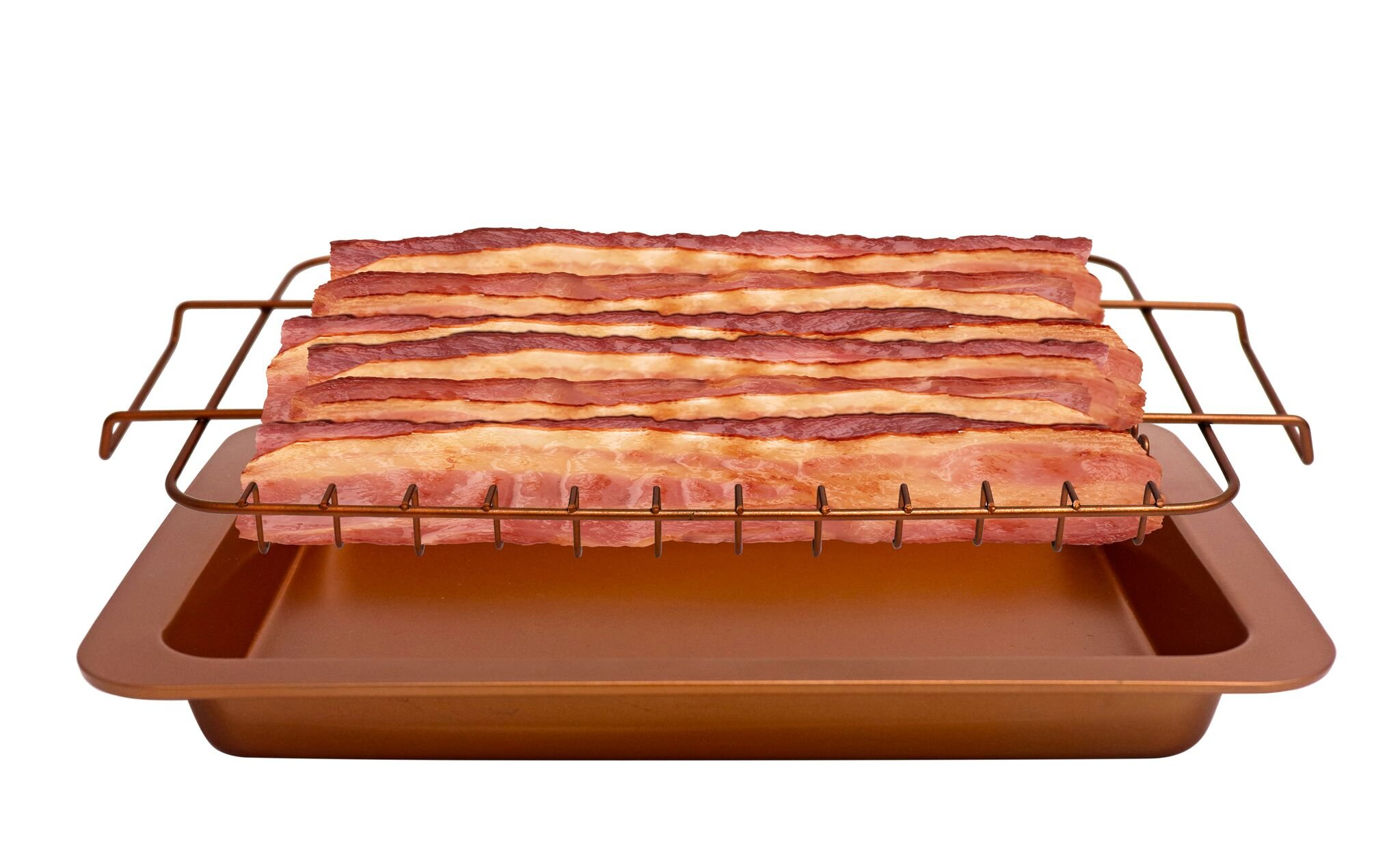 Bacon Bonanza by Gotham Steel Oven Healthier Bacon Drip Rack Tray with Pan – As Seen on TV by GOTHAM STEEL (Image #2)