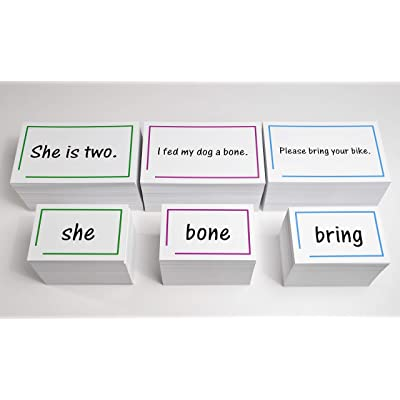 The 1,200 Sight Word and Sentences Reading Flash Cards Bundle - Reading Practice of Dolch and Fry Word Lists: Toys & Games