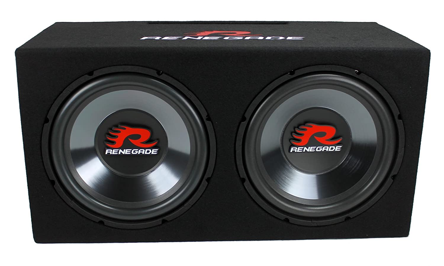 Amazon Com Renegade Rxv1202 12 1200w Dual Car Subwoofers Box