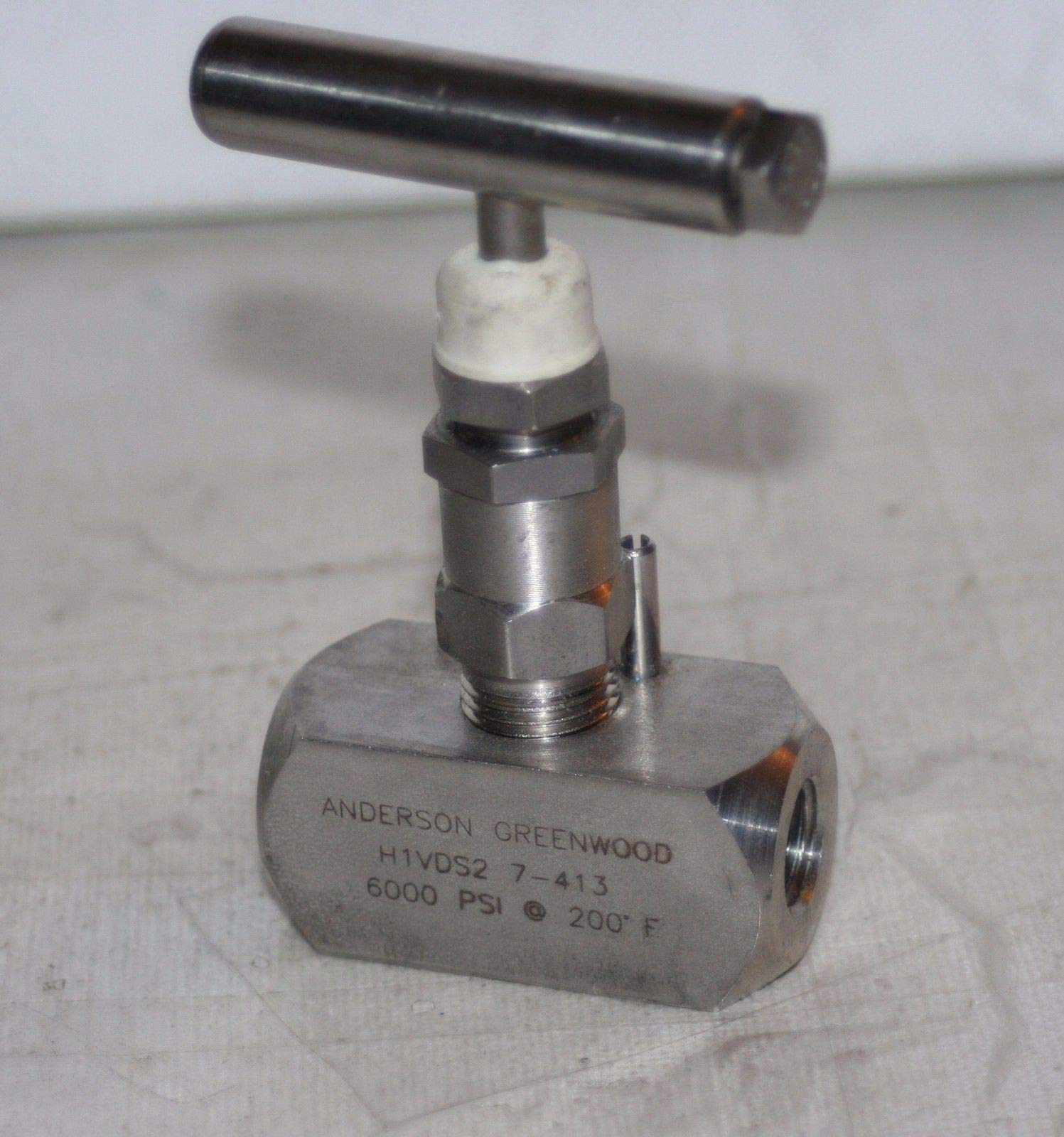 1/4'' NPT 6000 Psi SS Needle Valve Anderson Greenwood H1VDS2 7-413