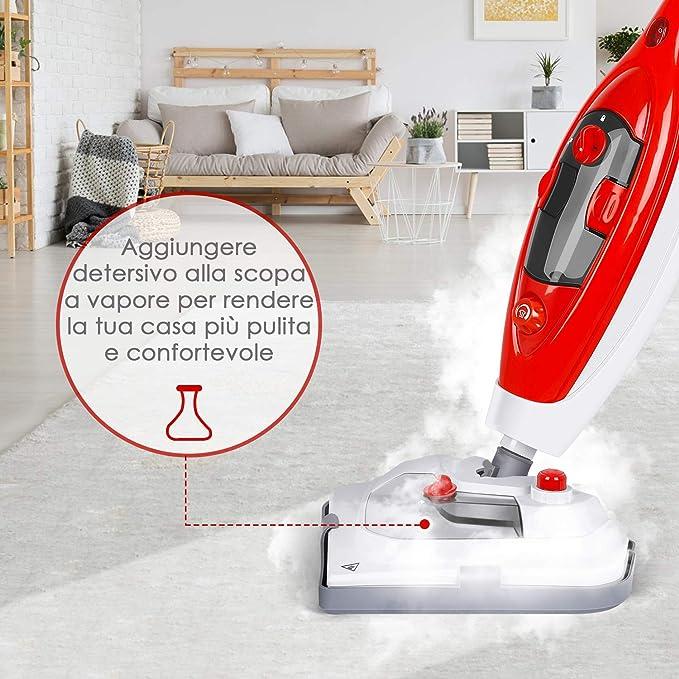 SIMBR - Escoba de Vapor Plegable con Limpiador de Vapor portátil ...
