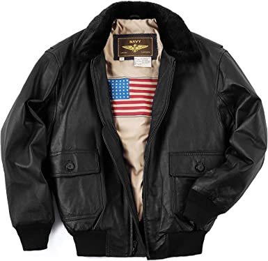 Landing Leathers Mens A-1 Leather Flight Bomber Jacket