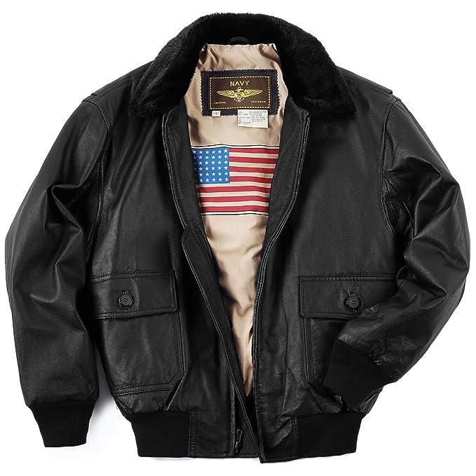 Amazon.com: Landing Leathers - Chaqueta de piel para hombre ...
