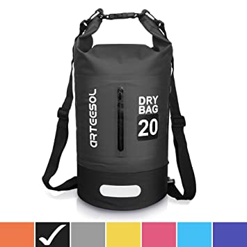 Arteesol Dry Bag 5L / 10L / 20L / 30L Mochila Impermeable con Doble Correa Bolsa para Natación, Kayak, Barco, Pesca, Viajes, Ciclismo, Playa, 4 ...