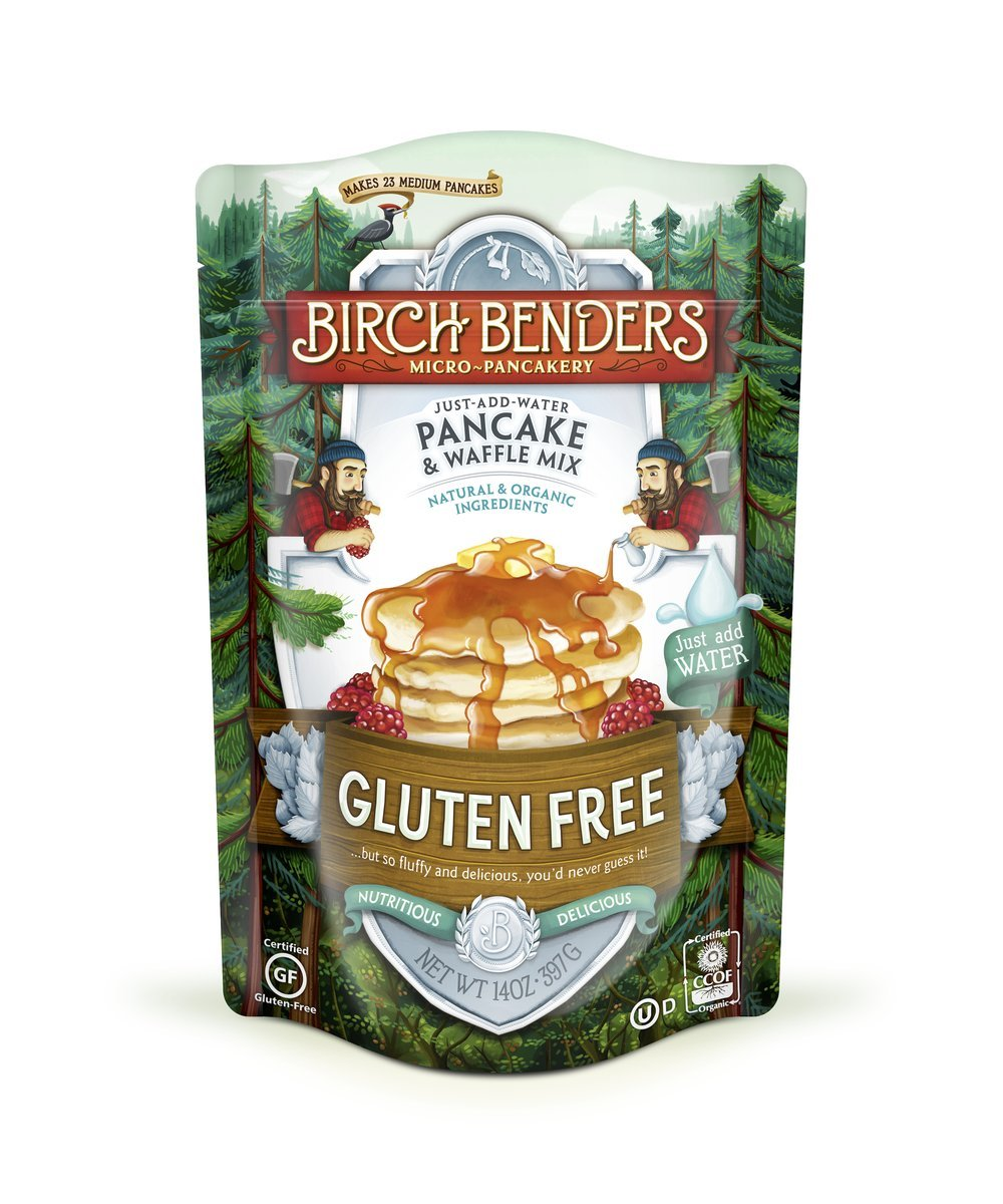 Gluten-Free Pancake and Waffle Mix by Birch Benders, Made with Organic Brown Rice Flour, Potato, Cassava, Hazelnut, and Cane Sugar, 42 Ounce (14oz 3-pack)