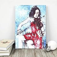 Arte Deko Keman Kanvas Tablo, 60x90