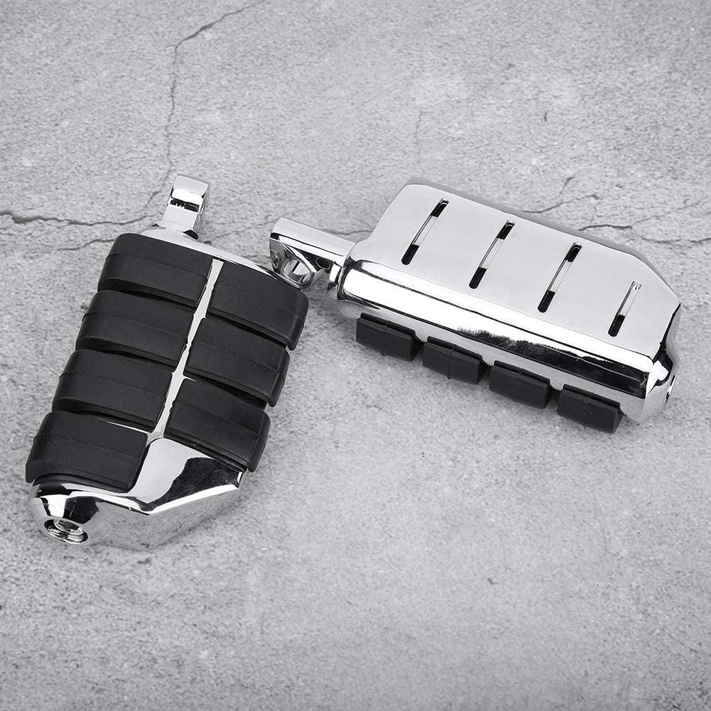 Motorradpedal Silber ein Paar Metall Motorrad modifizierte Fu/ßst/ütze Pedal Fu/ßrasten f/ür Zubeh/ör