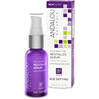Andalou Naturals Fruit Stem Cell Revitalize Serum, 1.1 oz, For Dry Skin, Fine Lines & Wrinkles, Helps Skin Look Younger, Softer, Smoother