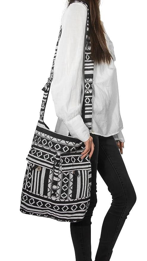 Amazon.com: Tribe Azure Comercio Justo de la mujer bolsa de ...