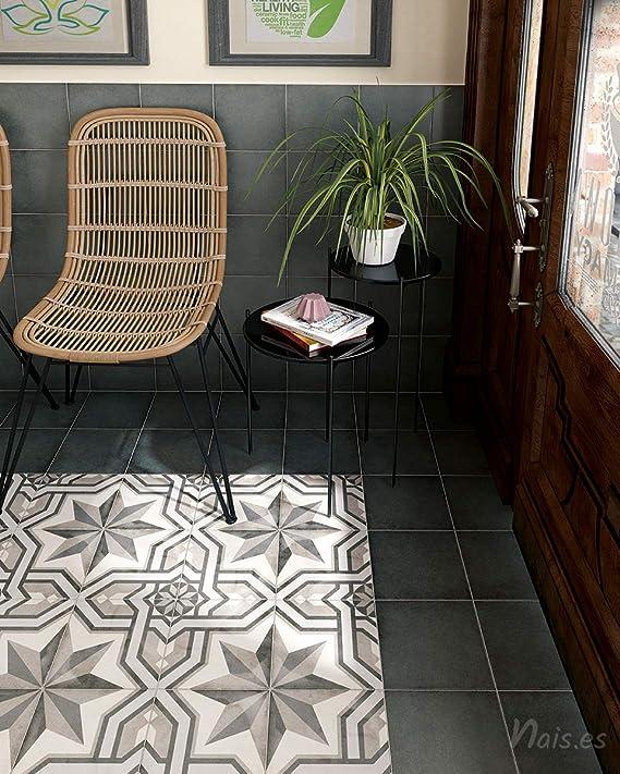 Colecci/ón Dunas Color Black Gloss Nais - Caja de 1 m2 Baldosas cer/ámicas para paredes de interior 6x24,6 cm 68 piezas