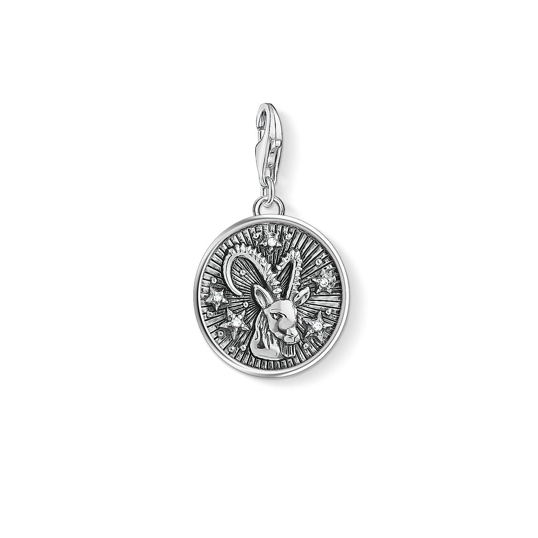Thomas Sabo Femmes Hommes-Charm-Pendentif Signe Zodiacal Capricorne Charm Club Argent Sterling 925 1649-643-21