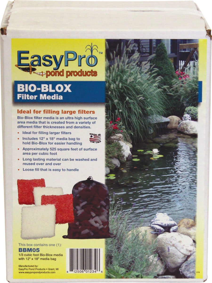 EasyPro BBM05 Bio-Blox Filter Media for Ponds, 1/3 Cubic Feet Coverage by EasyPro Pond Products