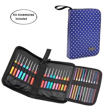 teamoy aguja de ganchillo (funda, bolsa de viaje para kits de ganchillo ergonómico, aluminio Crochet ganchos, gancho de ganchillo en acero y más, ligero, sin accesorios: Amazon.es: Juguetes y juegos