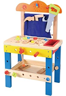 Workshop with Tools and Accessories jumini Kids Wooden Workbench