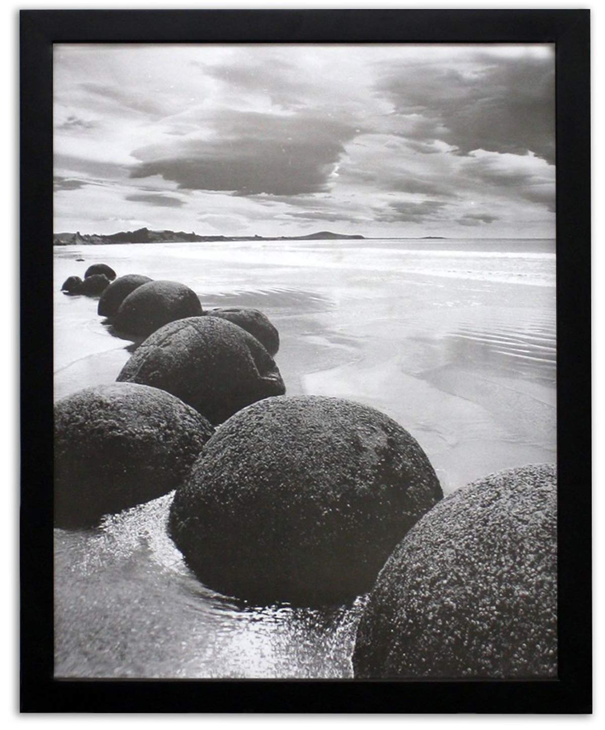 Golden State Art 16x20 Black Picture Frame, 1-1/4-Inch Wide with Real Glass by Golden State Art