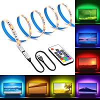 Minger 3.3-Foot USB Powered Multi Color LED TV Backlight Strip