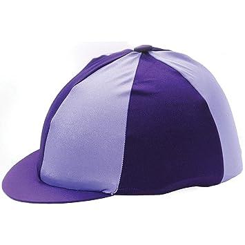 Hy - Gorra de equitación (licra), color violeta y blanco: Amazon ...