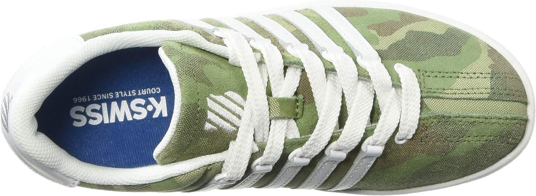 White//camo 12.5 M US Little Kid K-Swiss Unisex Classic VN Sneaker