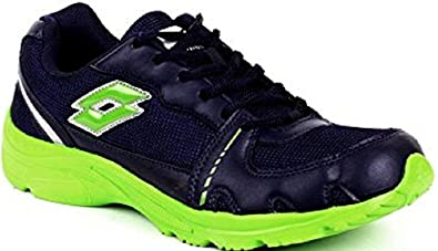 Lotto Mens Tracker Navy and Lime Green Mesh Running Shoes - 6 UK/India (40 EU): Amazon.es: Zapatos y complementos