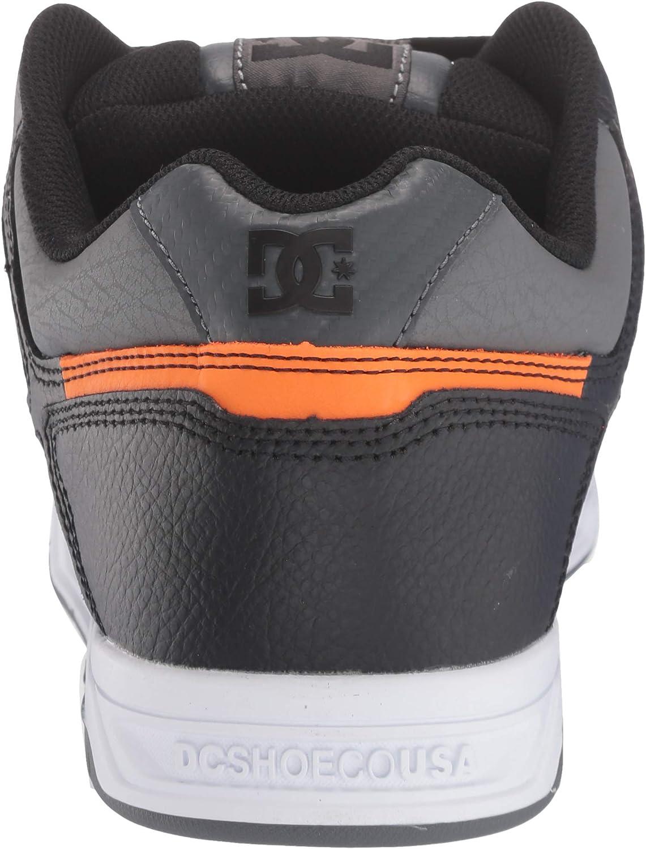 8 UK Grey//Black//White DC Mens STAG Skate Shoe