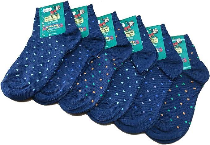 Pietro filo di scozia bianco taglia 10 kids Pompeaa 6 calzini bimbo Art