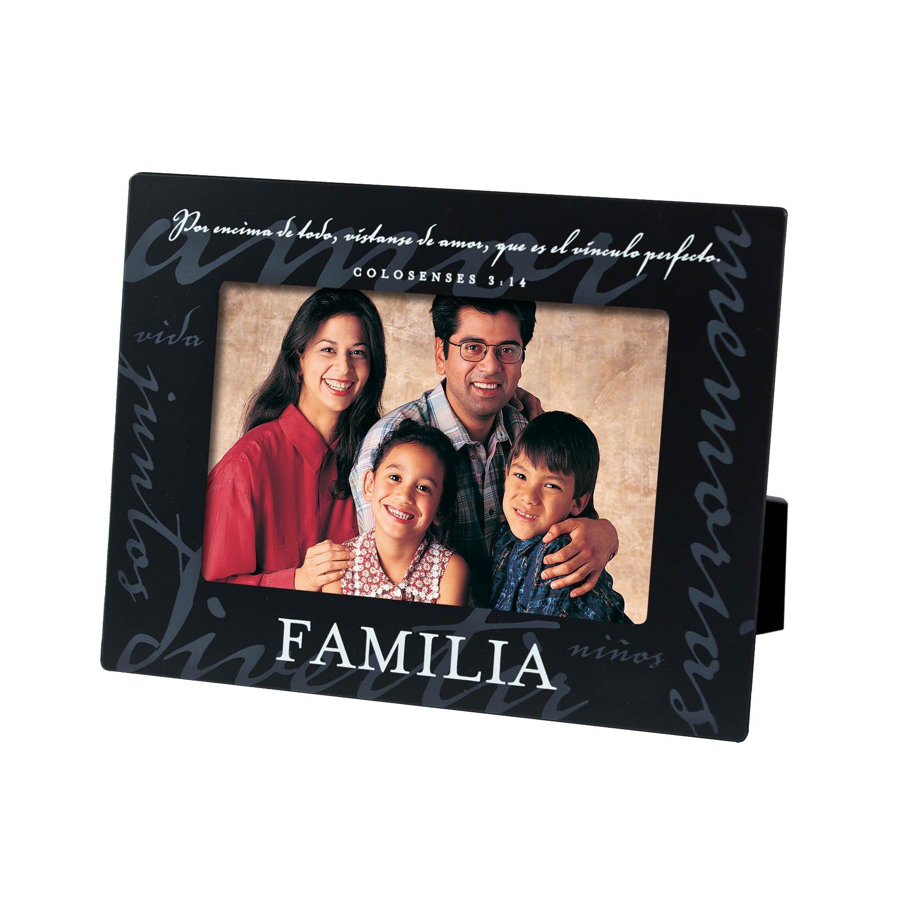 Lighthouse Christian Products Spanish Familia Family Metal Frame, 4 x 6, Black