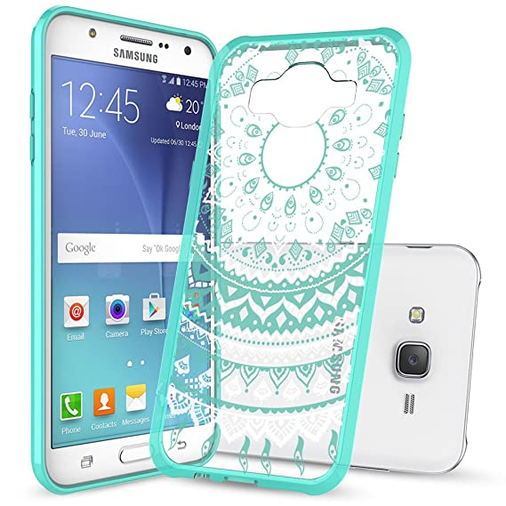 Image of: J7 2016 Samsung Galaxy J7 Phone Caseanoke J7 2015 Mandala Flower Cute Thin Slim Fit Cell Mobile Phone Cover Cases With Hd Screen Protector For Girls Women Kids Men Amazoncom Amazoncom Samsung Galaxy J7 Phone Caseanoke J7 2015 Mandala