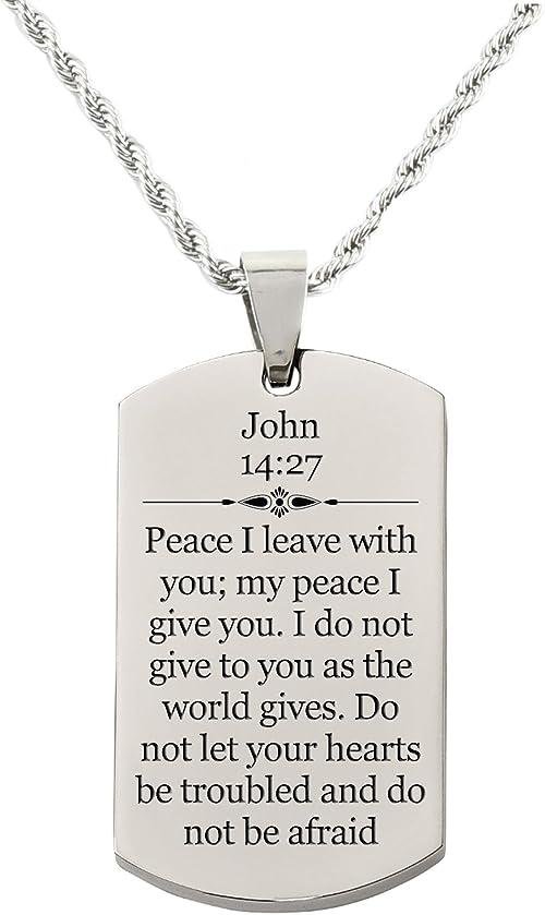 Jeremiah 29:11 Pink Box Scripture Tag Necklace Rose Gold Jeremiah 29:11