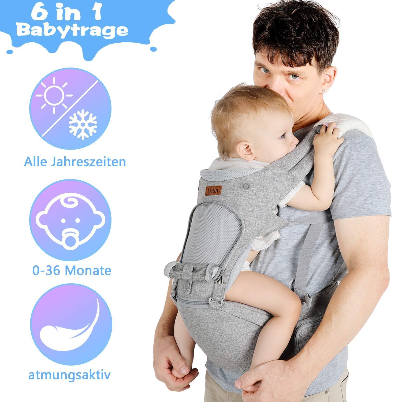 Eine Person, die benutzt Babytrage