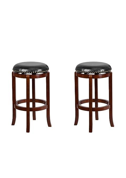 Terrific Amazon Com Flash Furniture 29 Backless Light Cherry Wood Short Links Chair Design For Home Short Linksinfo