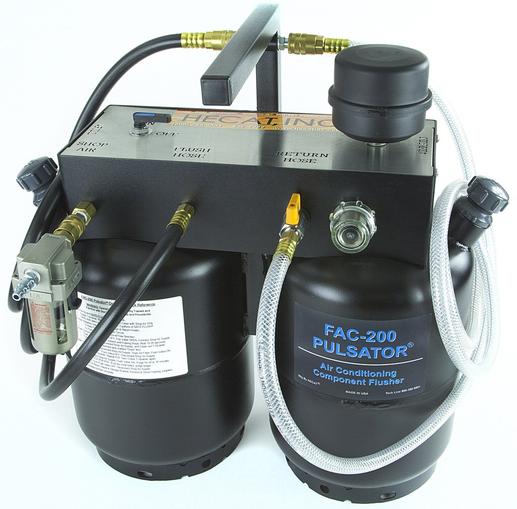 HECAT FAC-200 PULSATOR (118507B) - Portable A/C System Component Flusher with Adapter Kit & Flush