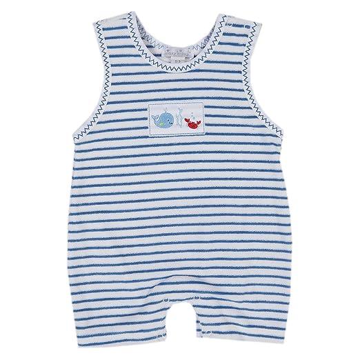 9855d504e96 Kissy Kissy Baby Boys Ocean Treasures Terry Stripe Slvlss. Short Playsuit -  Blue-12