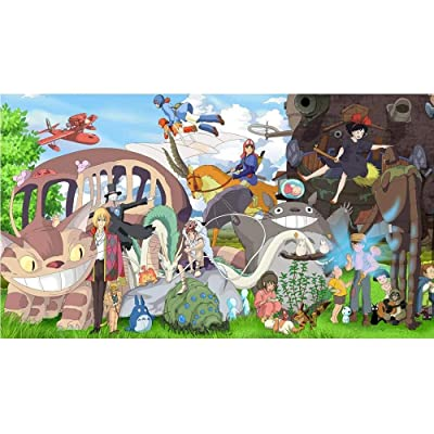 Jqchw Anime Puzzle Spirited Away Anime Jigsaw Puzzle 1000 Piece Wooden Puzzle Children's Educational Toys Puzzles Stickers Home Puzzle Game Adult Decompression Toys Collection Puzzle Gift: Toys & Games