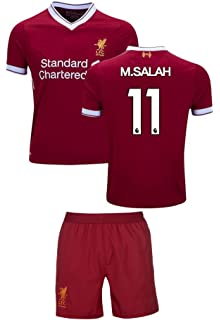 Liverpool Mohamed Salah #11 Soccer Jersey & Shorts Kids Youth Sizes Football World Cup Premium