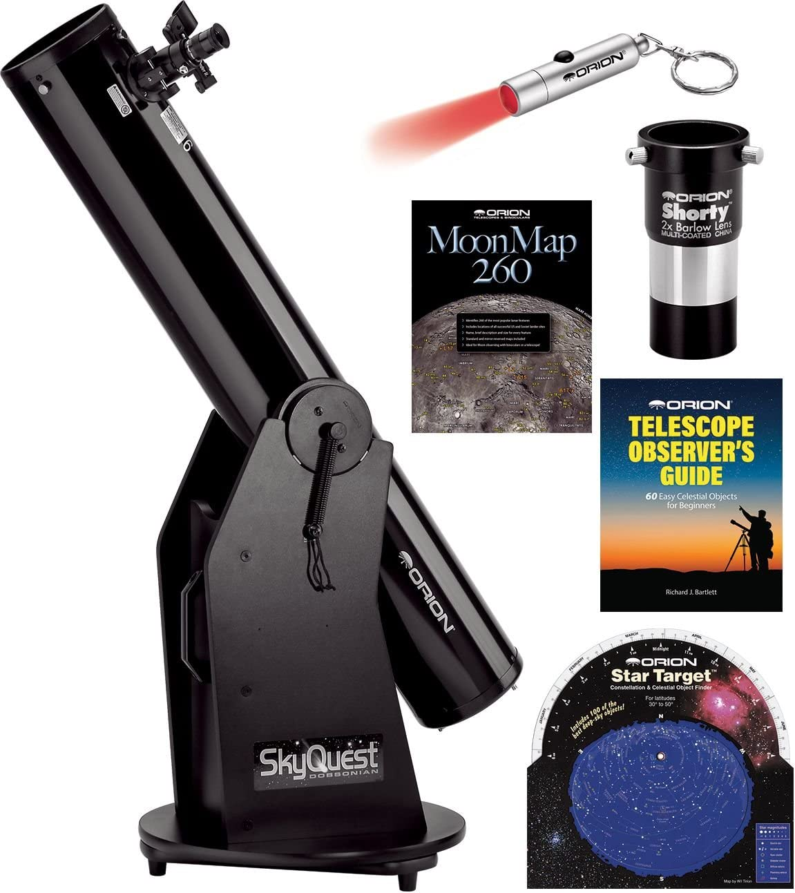 Orion Skyquest Xt6 Classic Dobsonian Telescope Kit Camera Photo