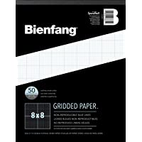 Bienfang Designer Grid Paper, 50 Sheets, 8-1/2-Inch by 11-Inch Pad, 8 by 8 Cross Section (Limited Edition)