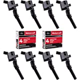 Ignition Coil DG508 and Motorcraft Spark Plug SP479 compatible with Ford 4.6L 5.4L V8 DG457 DG472 DG491 CROWN VICTORIA EXPEDITION F-150 F-250 MUSTANG LINCOLN MERCURY EXPLORER 3W7Z-12029-AA (Set of 8)