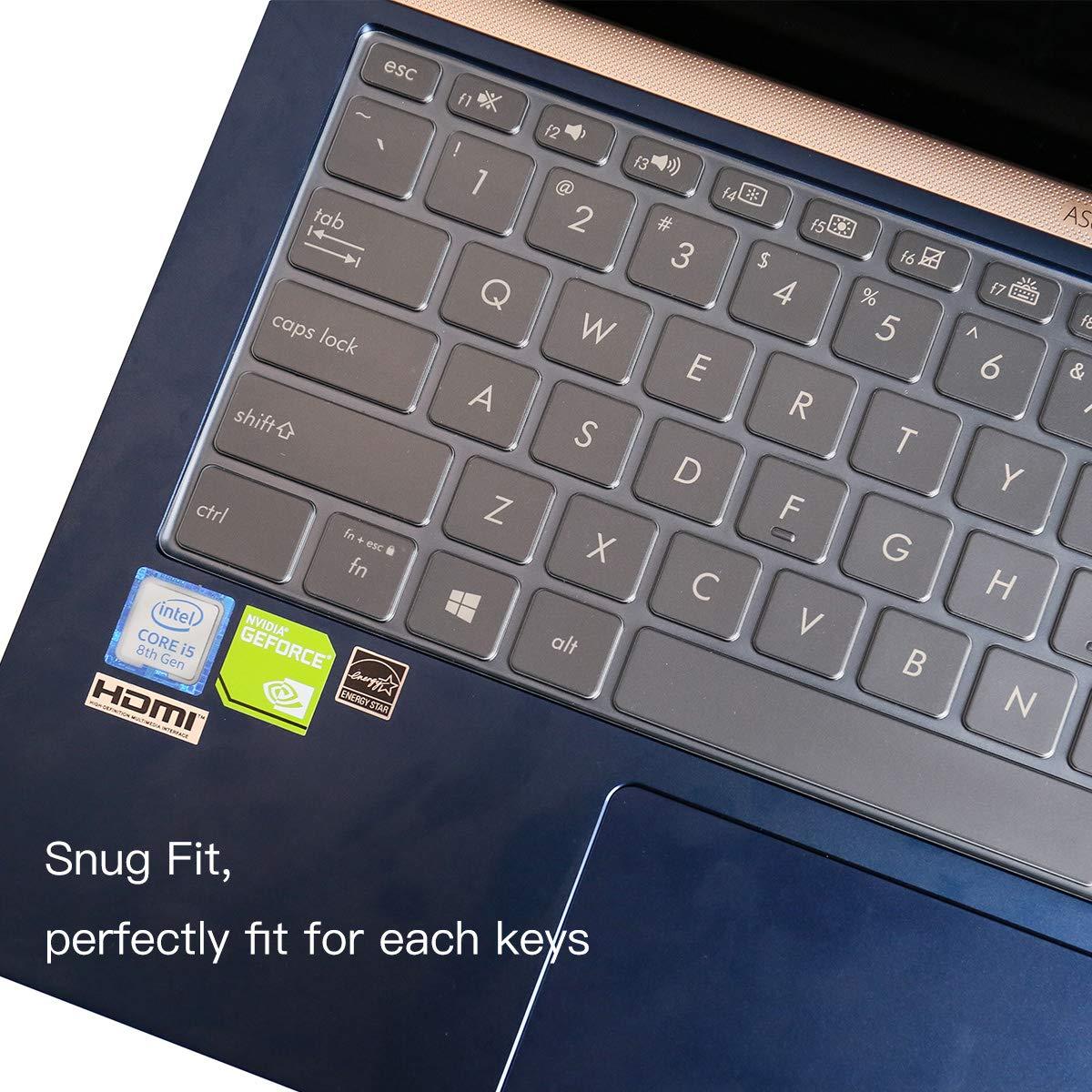 ultrad/ünn weich TPU ASUS ZenBook UX433FA UX433FN Laptop-Tastatur 14 Zoll Tastatur-Abdeckung f/ür 35,6 cm
