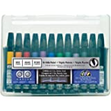 Chartpak AD Markers, Tri-Nib, 12 Assorted Basic Colors in Plastic Carrying Case, 1 Each (AD12SET)