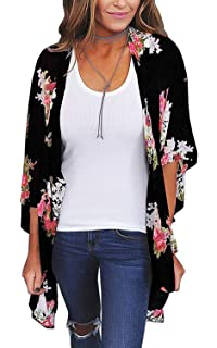 Newest Kids Girl Kimono Floral Cardigan Tops Jacket Shirt Blouse Beach Cover Up