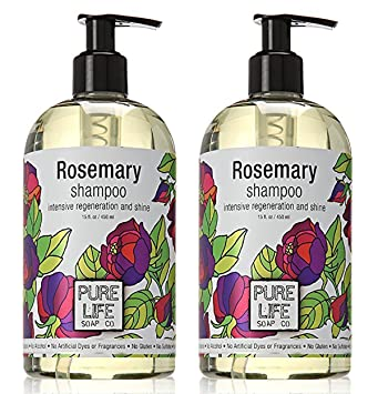 a32c2c805064f Pure Life Soap Co. - Rosemary Shampoo - 15 oz (2 Pack)