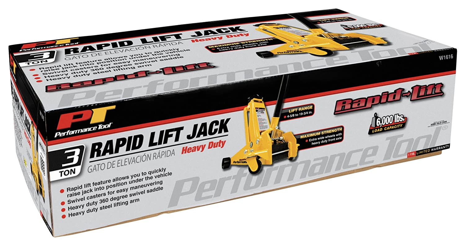 7,000 lbs. Performance Tool W1627 3.5 Ton Capacity Low Profile Service Jack
