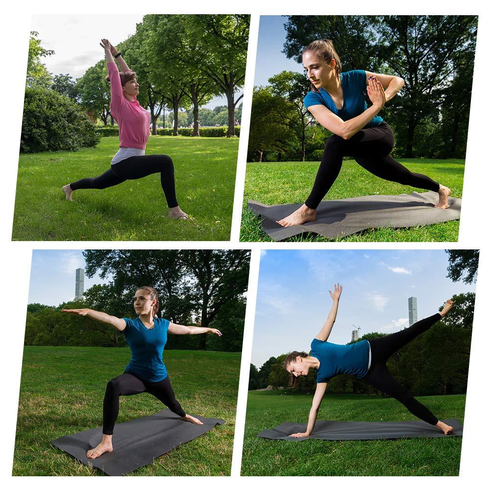Gimdumasa High Waist Yoga Pants with Pockets Tummy Control Workout Pants for Womens 4 Way Stretch Yoga Leggings with Pockets for Sport Gym GI188 (Black, M)