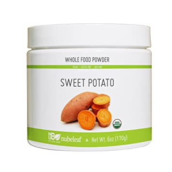 Nubeleaf Sweet Potato Powder - Non-GMO, Gluten-Free, Raw, Vegan Source of  Fiber, Essential